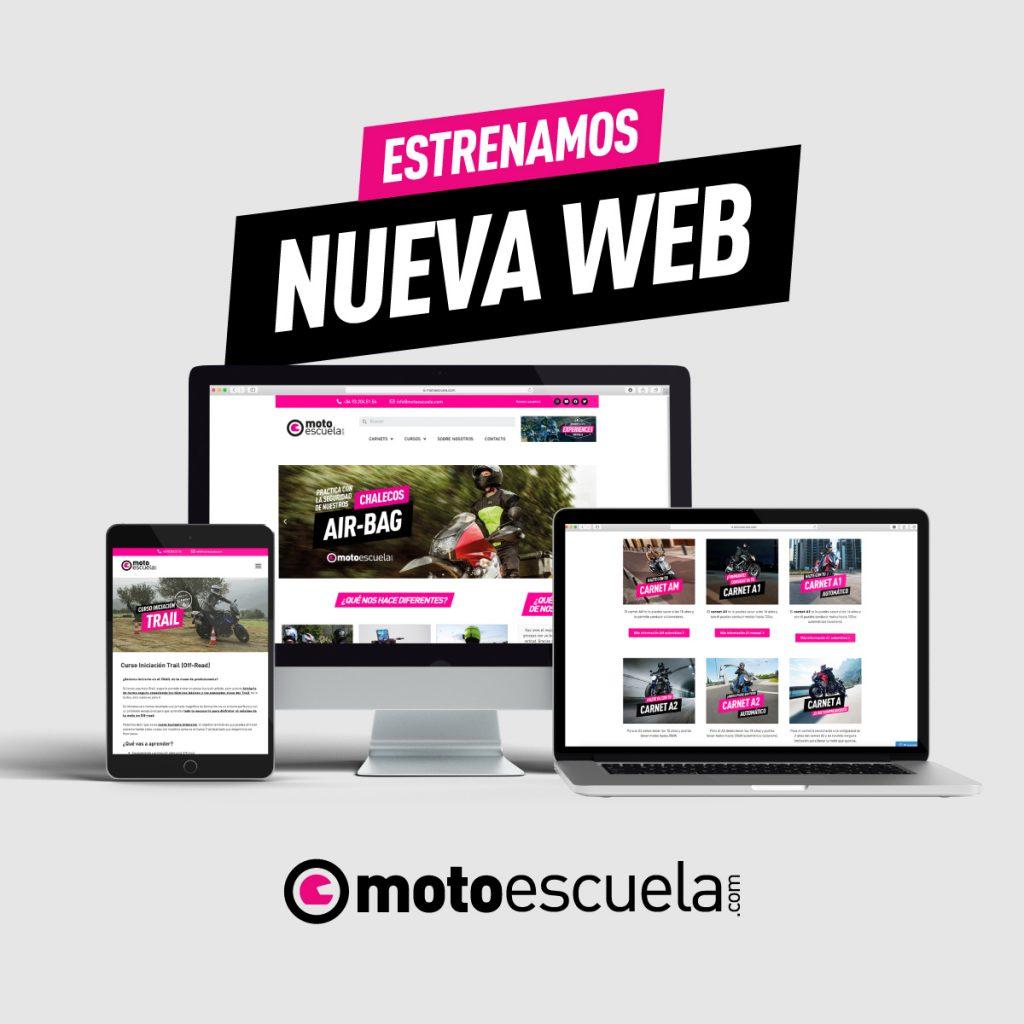 Nueva web de Motoescuela